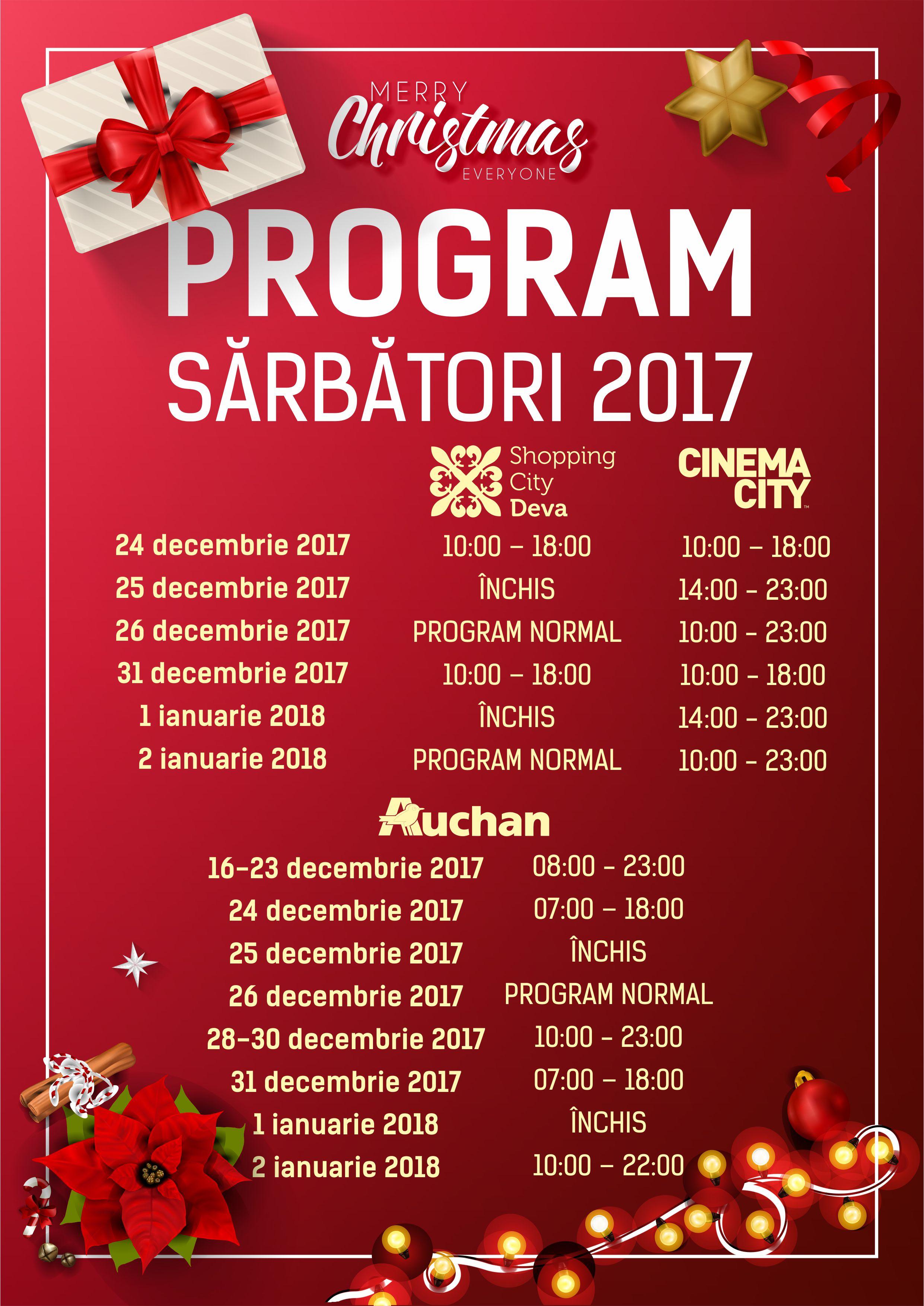 înainte de programul de lucru 24 decembrie)