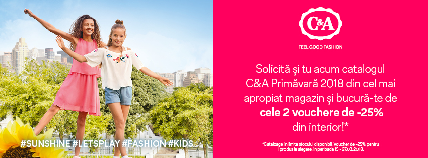 Teaser catalog C&A Primavara 2018_850x315px